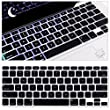 """MacBook Pro Keyboard Cover Skins for MacBook Air 13""""/Pro 13""""15"""" with Retina Display US Layout (Black)"""