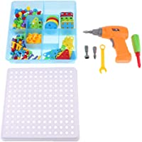 HOMYL 3D Building Block Games, Stem Learning Set, Toy Drill Screwdriver Toolkits, Kids Gift