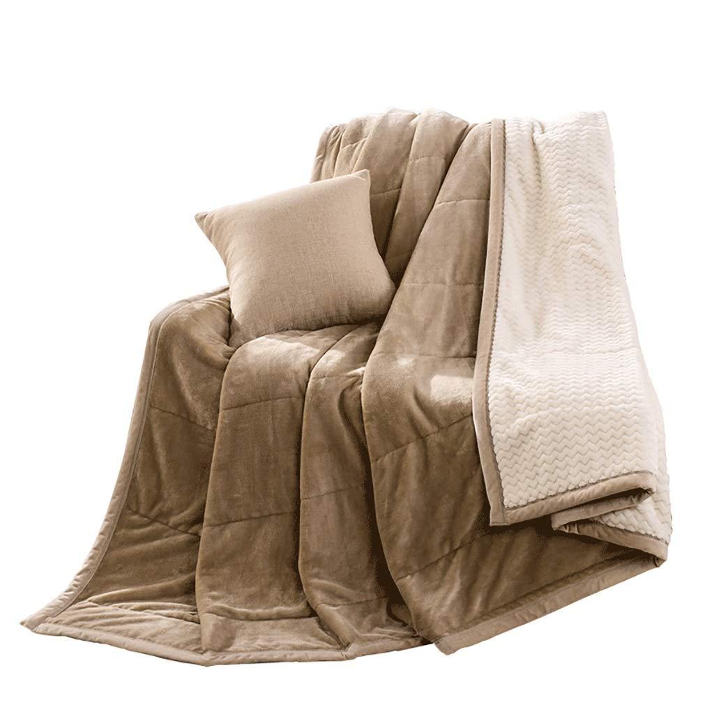 WJ 豪華なスーパー柔らかい毛布、ダブル厚いスローブランケット、ソファ、ベッドルーム、勉強のための実用的な二重毛布 (サイズ さいず : 150 * 200cm) B07HQ68Y7W  150*200cm