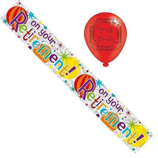 Jubilación cartel para fiesta de aluminio y globos ...