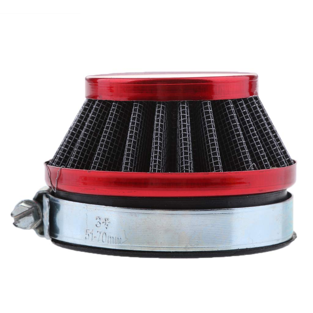 Perfeclan 58mm Red Air Filter Adapter for 49cc-80cc 2-strokes ATV,Dirt Pit Pocket Bike