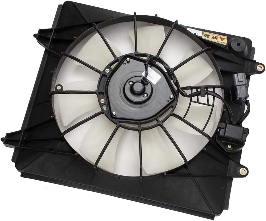 A/C AC Condenser Cooling Fan Motor Assembly w/Controller Replacement for 07-09 Honda CR-V 38611PNA003 38615RZAA01 AutoAndArt