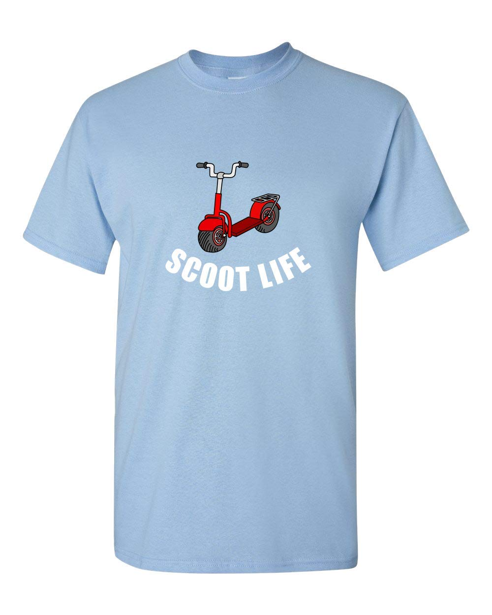 Scooter Shirt - Funny Scooter Gifts - Scooter Rider - Scooter Lover - Scoot Life Light Blue by realpeoplegoods