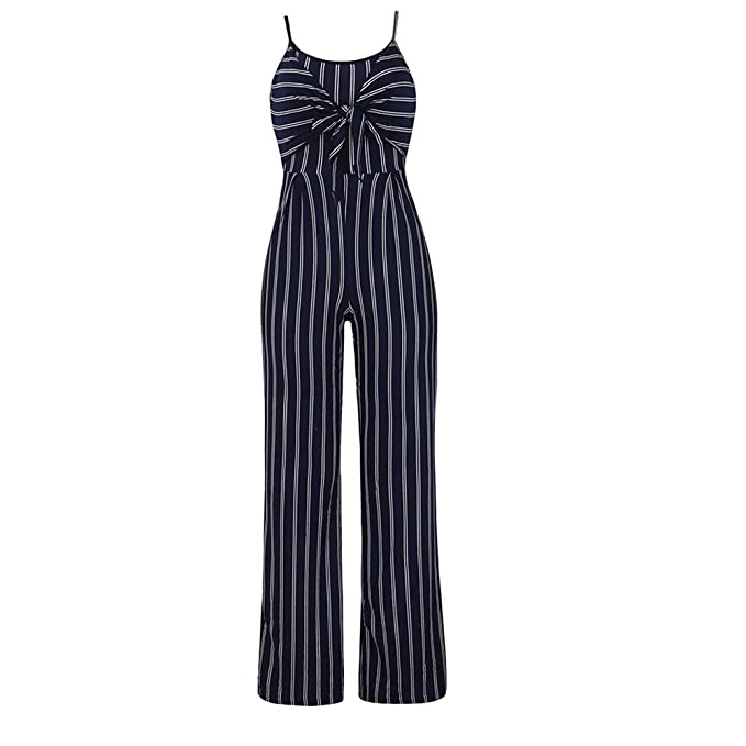 81de23de0dc Rovinci Women s Clothing Womens Jumpsuit Clubwear Strappy Striped Playsuit  Bandage Bodysuit Party Jumpsuit Ladies Long Jumpsuits Trousers Backless  Tops  ...