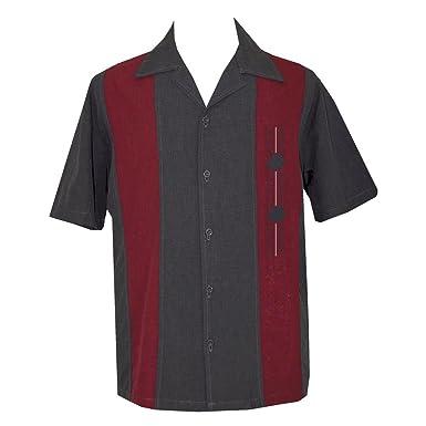 ca13ce21b4b9 Lucky Paradise Mens Retro Camp Short-Sleeve Bowling Shirt DiVino at ...