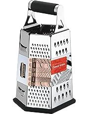 Rallador de 6 Caras - 24 cm - Cortadora de Vegetales - Acero Inoxidable - Mango de Caucho - Fondo de Caucho Antideslizante por Utopia Kitchen