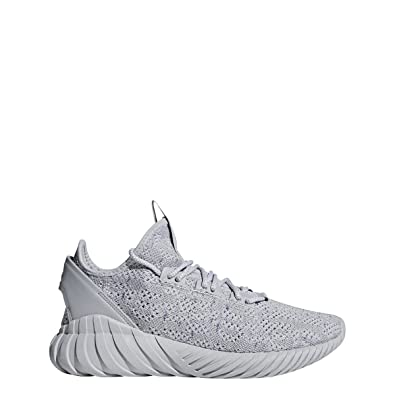 63c56a6e0b0f adidas Tubular Doom Sock Primeknit Mens in Grey White