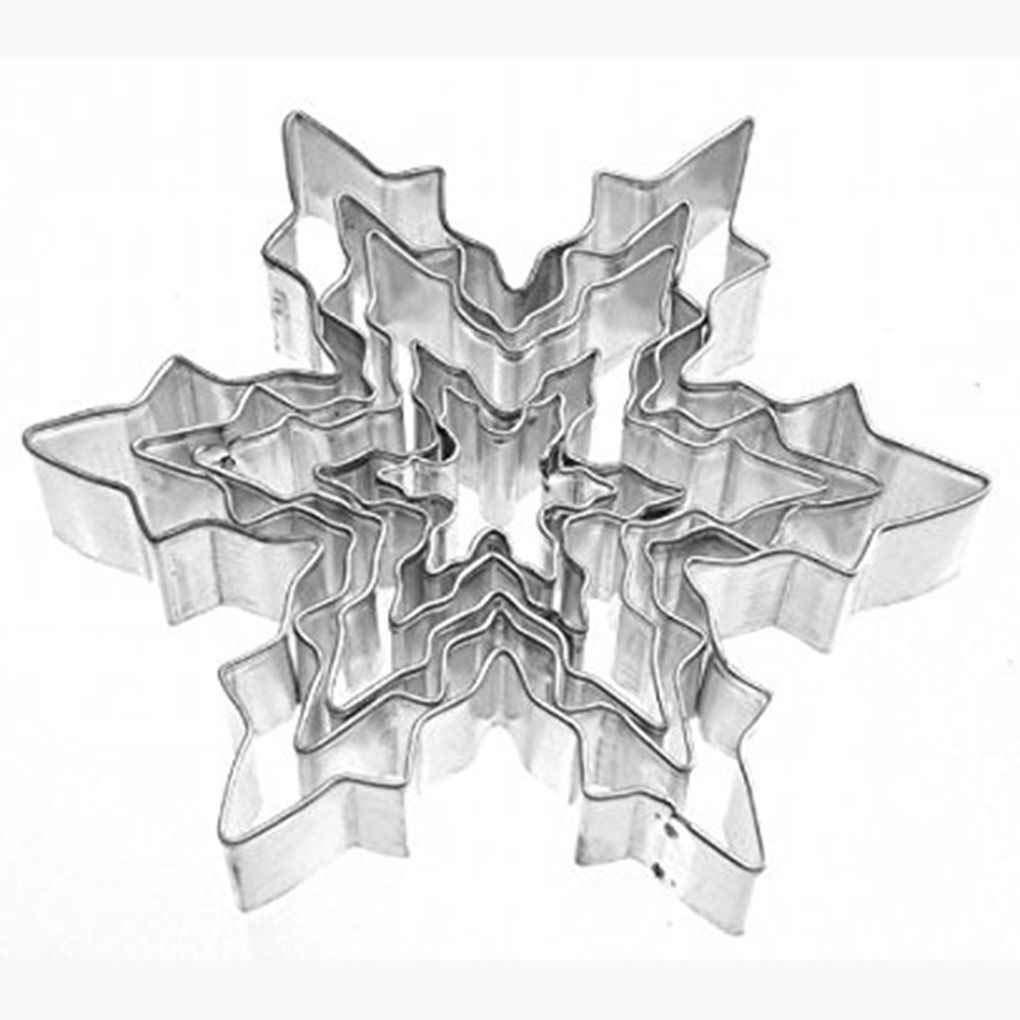 Fangfeen Kuchen-Backen-Form 5pcs Snowflake Edelstahl Ausstechformen ...