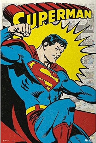 Superheroes - Superman - Retro 24x36 Poster -