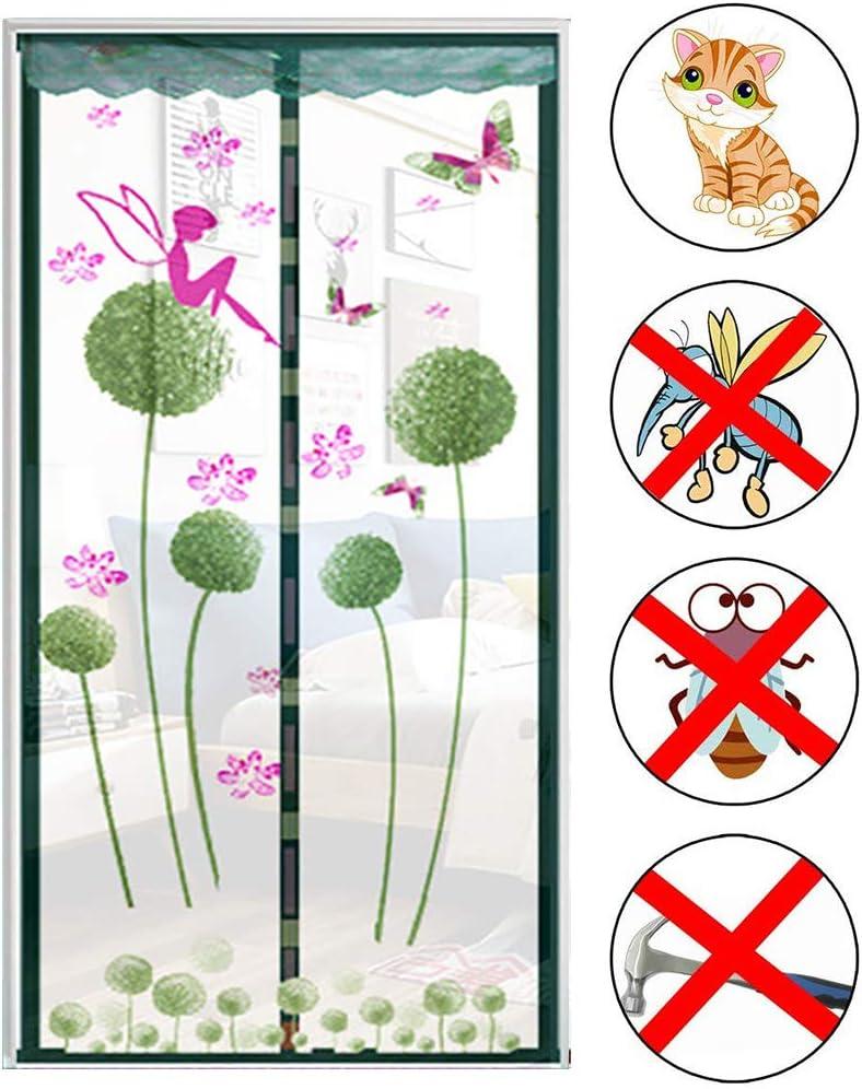 31x79 pouces garder lair frais /à lint/érieur Insectes faciles /à installer Rideaux anti-mouches pour portes Porte moustiquaire magn/étique nombreuses tailles moustiquaire durable C 80x200 cm