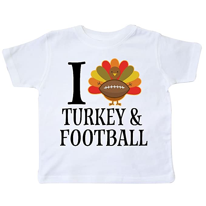 f4f23e5eb inktastic - Thanksgiving Day I Love Turkey and Toddler T-Shirt 2T White  2d3fe