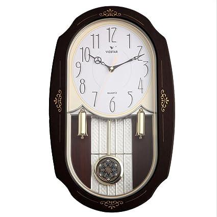 Reloj de pared de la vendimia Movimiento de cuarzo Relojes de péndulo Hexagonal Amigos Regalos de