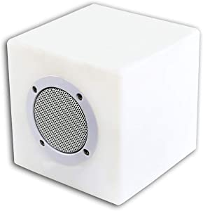 Alpine Corporation Add-On Bluetooth Speaker with LED Light and Remote - Plastic Color Changing Speaker for Indoor/Outdoor Use- 6