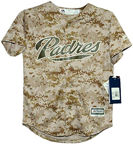 (Majestic San Diego Padres USMC Camo Cool Base Youth Jerseys (Medium (10-12)))