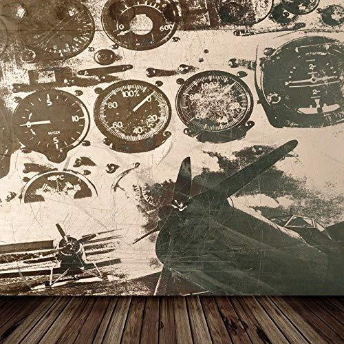 FidgetFidget 10x10フィート レトロ 航空スタジオ 写真背景 ビニール背景 小道具   B07MQJ3YWD