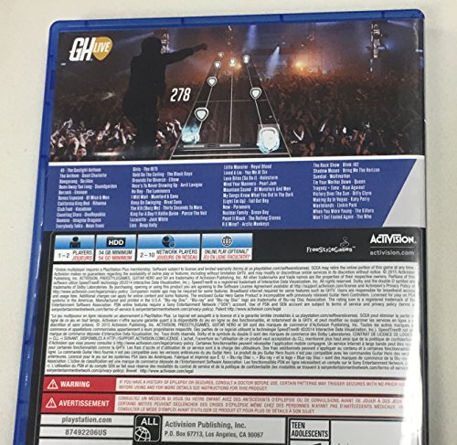 how to download guitar hero live games ps4