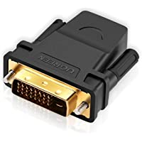UGREEN High Speed Hdmi Female To Dvi 24+1 Dvi-D Male Adapter Gold Plated Support 1080P For Hdtv Plasma Dvd And Projector…