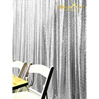 5FTX7FT Silver Sequin Photo Backdrop,Wedding Photo Booth,photography Background,ceremony Background