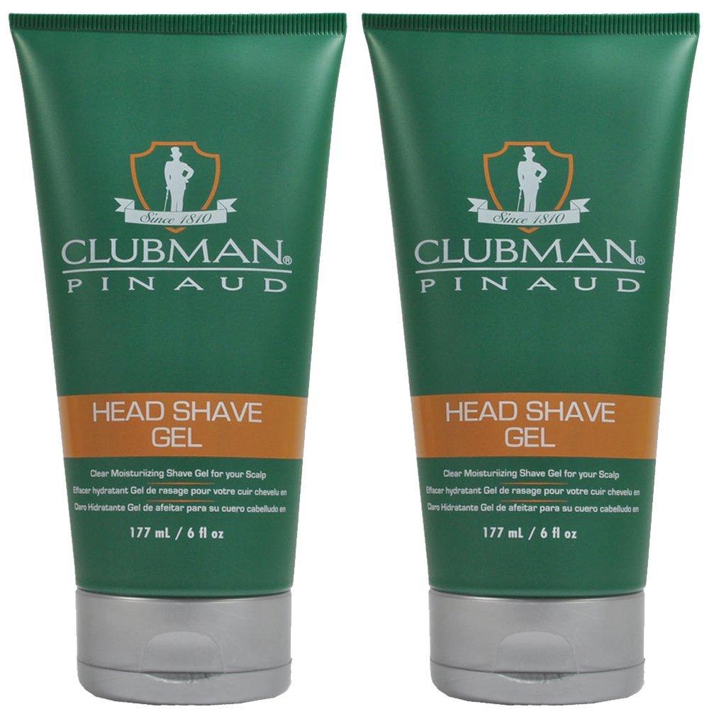 Clubman Pinaud Head Shave Gel 175 ml (Pack of 2)