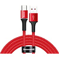 Baseus Halo Flash Şarj USB Şarj Kablosu, Type-C, 40W, 2m, Kırmızı