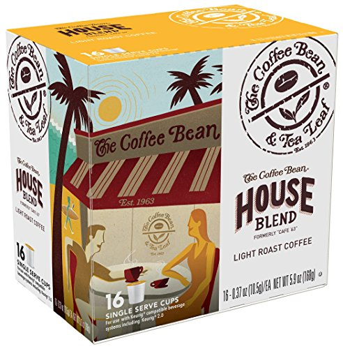 Coffee Bean & Tea Leaf Solitary select Serve Coffee Cups, House Blend, 64 Count (4/16ct boxes)