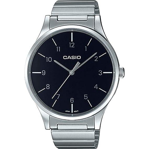 83b08fe0d9d0 Casio Reloj Analógico para Mujer de Cuarzo con Correa en Acero Inoxidable  LTP-E140DD-1BEF  Amazon.es  Relojes