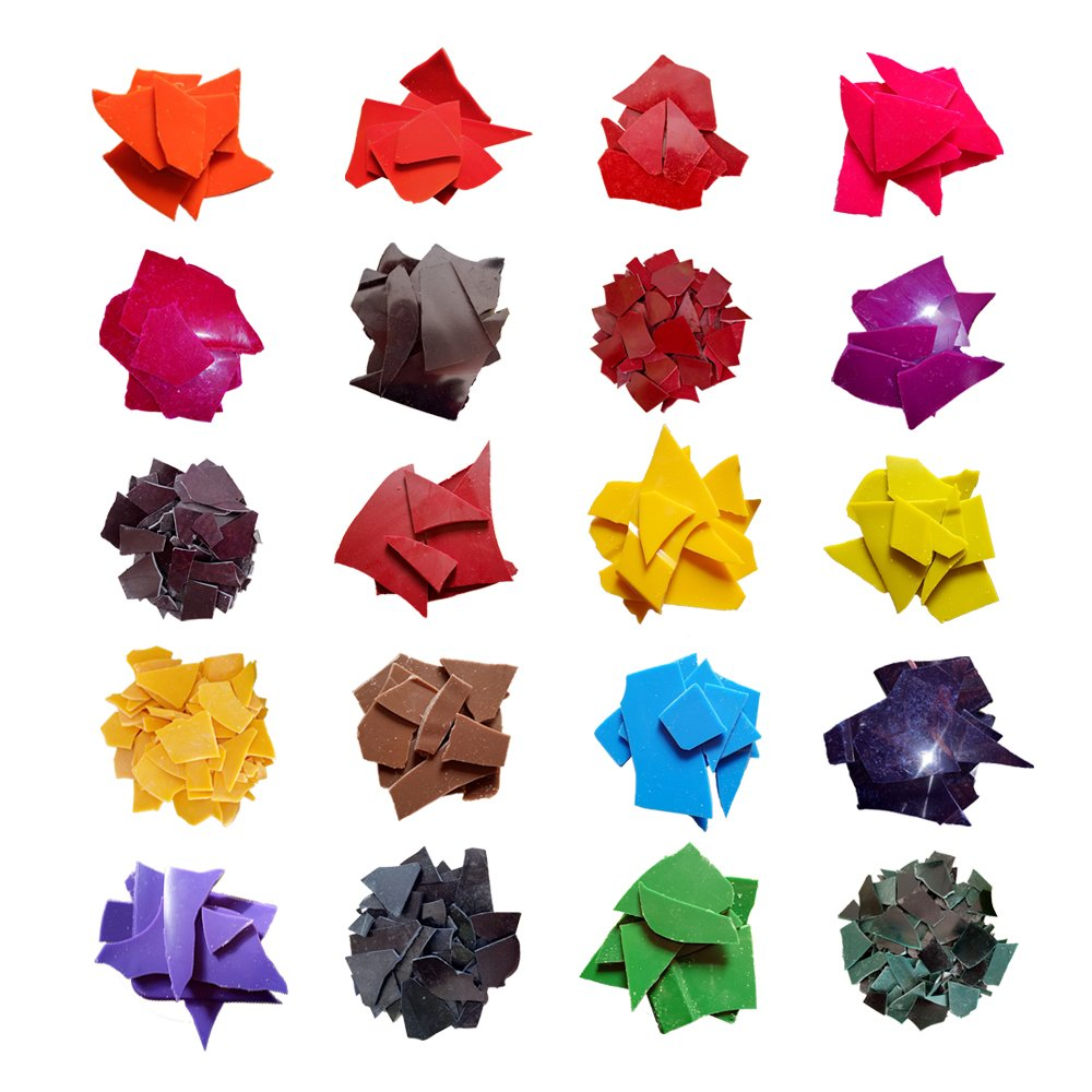 20 Dye Colors Candle Wax Dye - Candle Dye Chips for Making Candles A Great Choice of Colors By Viotyst