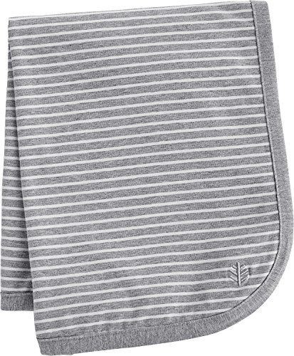 Sun Care Protective Uv (Coolibar UPF 50+ Baby Sun Blanket - Sun Protective (One Size- Grey/White Stripe))