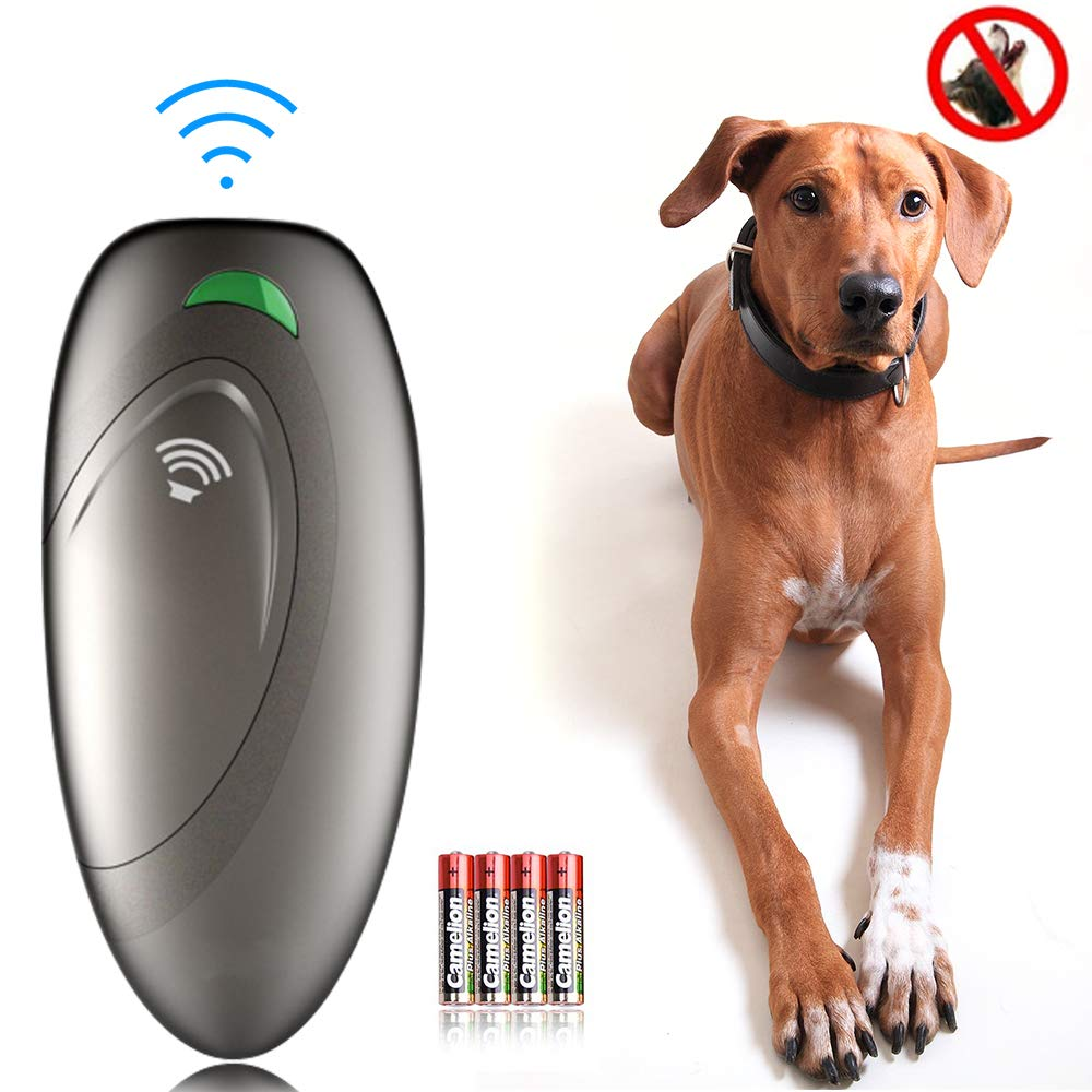 Ultrasonic Dog Barking Control Devices Anti Barking Device Dog Training Aid Handheld Dog Bark Trainer Stop Barking for Walk a Dog Outdoor with Wrist Strap by Ina Ella
