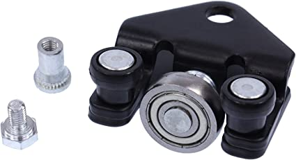 Guía de rodillos para puerta corredera con ruedas, bisagra, puerta lateral, parte inferior izquierda: Amazon.es: Coche y moto