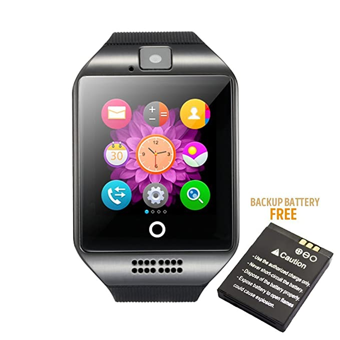 newwishes portátil Bluetooth Smart reloj Q18 con 500 mAh ...