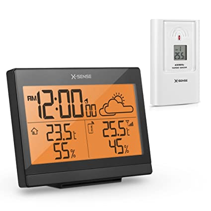 X-Sense AG-4R Wireless Weather Station with Indoor/Outdoor Temperature, Humidity