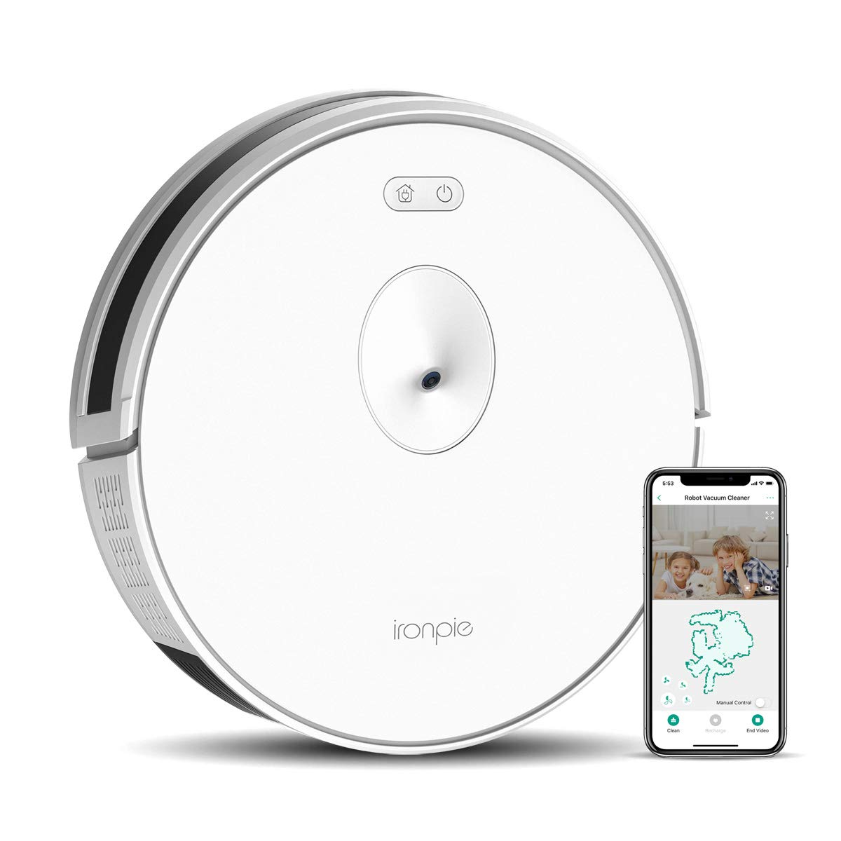 Trifo Ironpie m6 Robot Vacuum Cleaner with Wi-Fi Connectivity, Remote Monitoring, 1800Pa Strong Suction, Visual Navigation, Self-Charging, Schedule Cleaning ...