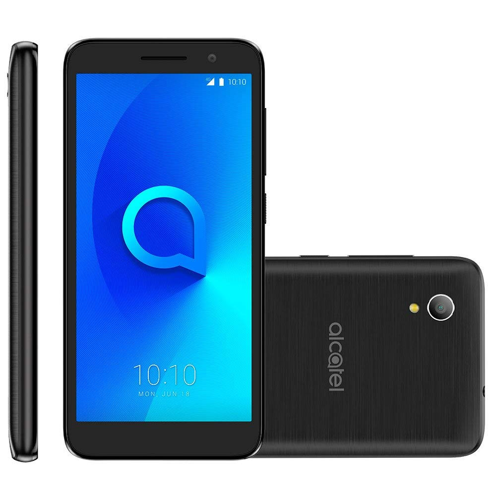 Unlocked Alcatel 1 (5033x) Mobile Smartphone - Gold (For use with any Sim Card Worldwide) (Black)