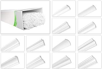 ZG10-36x30mm Hochwertige Stuckleisten leicht /& robust im modernen Design - HEXIMO 2 Meter Deckenleisten aus Styropor XPS Stuck Zierleiste Eckleiste Styroporleiste Winkelleiste Wandleiste