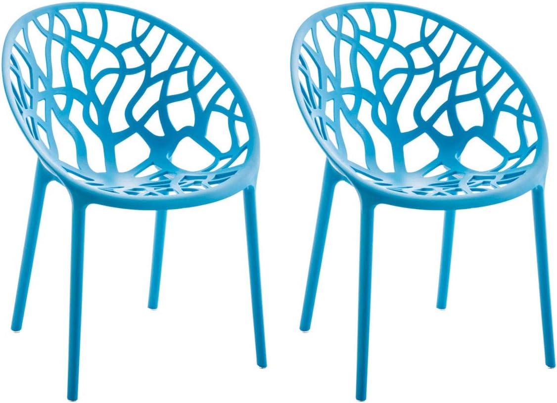 CLP 2er-Set Gartenstuhl Hope Aus Kunststoff I 2 x Wetterbest/ändiger Stapelstuhl Mit max Farbe:orange 150 KG Belastbarkeit