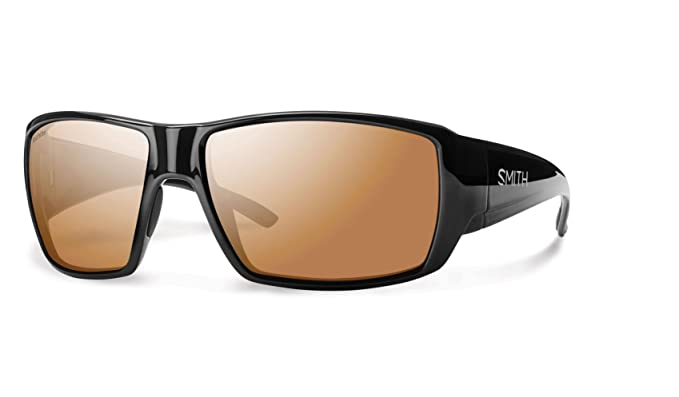 Smith gcgppcmblk Hombres de marco negro marrón lente de ...