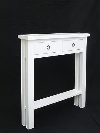 Antike Fundgrube Schmaler Wandtisch/Flurtisch in weiß lackiert ...