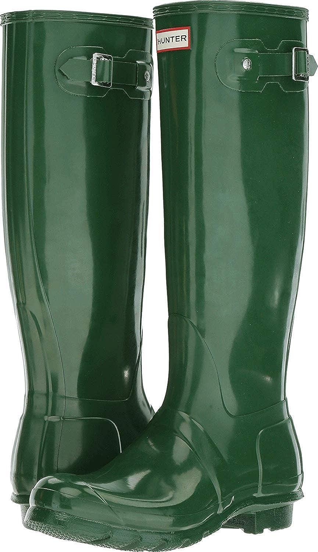 Hunter Original TALL Back Adjustable Green Ladies Wellies UK3-8