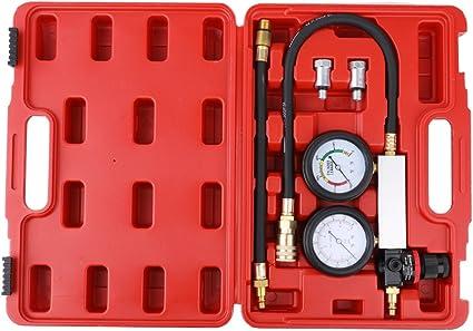 Kkmoon auto cilindro perdita rivelatore del tester compressione perdita kit set motore a benzina gauge Tool kit doppio sistema calibro con custodia