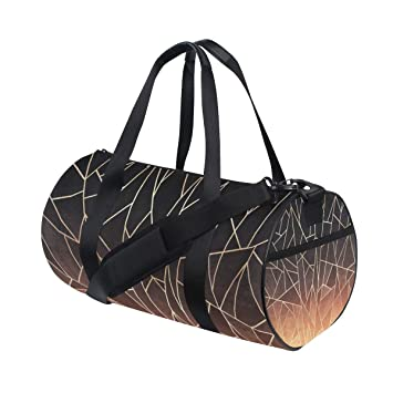 Amazon.com   Gym Duffel Bag Abstract Ombre Training Duffle Bag BaLin Round Travel  Sport Bags for Men Women   Sports Duffels 9cf5abf740
