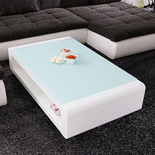 Couchtisch-Soleil-120x70cm-Glastisch-Hochglanz-Lack-Tisch-Weiss-Loungetisch-Beistelltisch