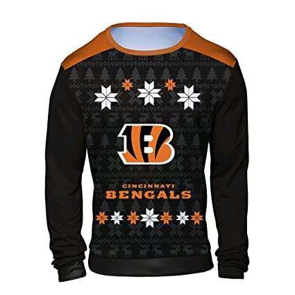 Amazon.com   NFL Men s Long Sleeve Shirt with Sublimated Holiday ... a25a4ede4