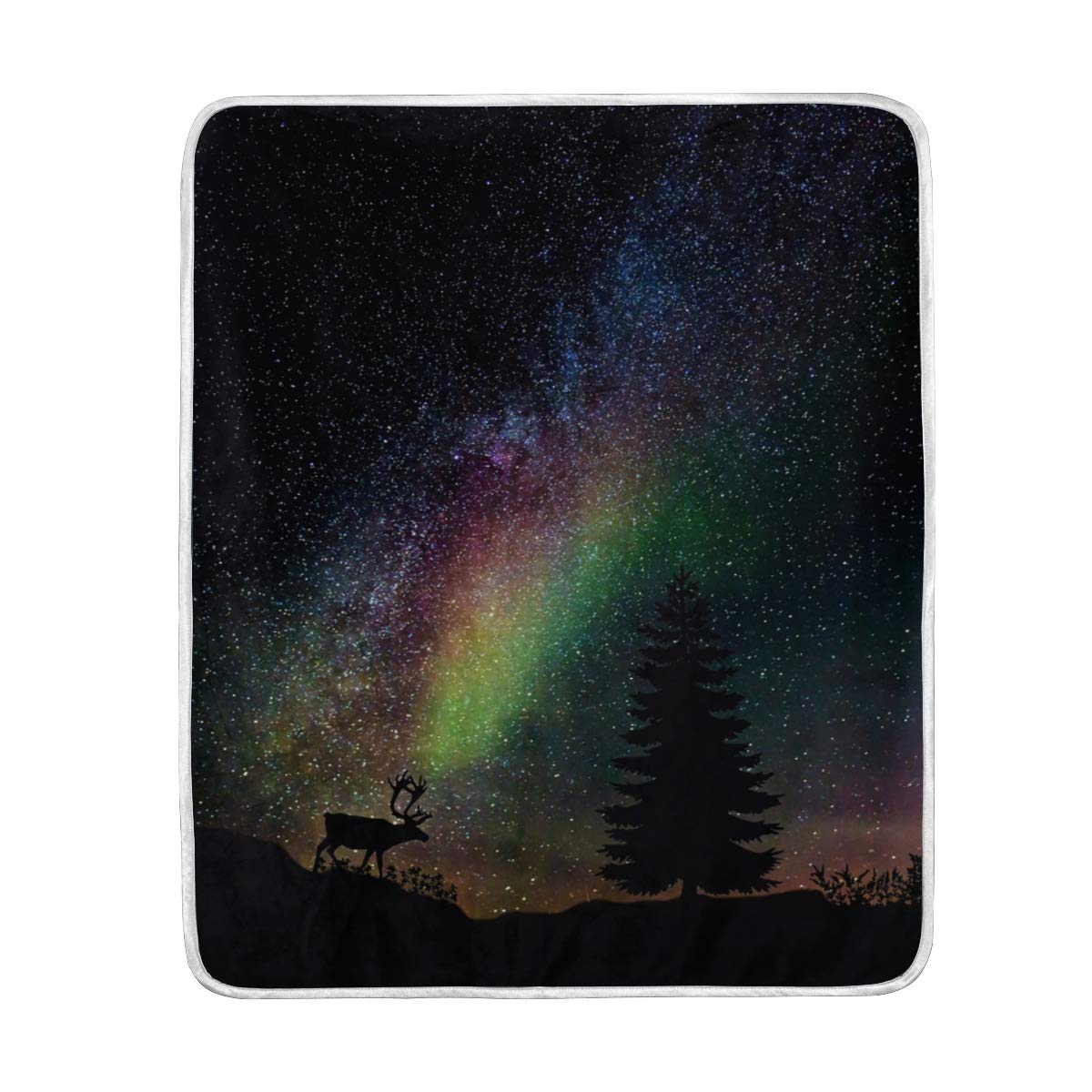 91aeb887bd67 Amazon.com: Lilibeely Ultra Soft Microplush Velvet Starry Sky ...
