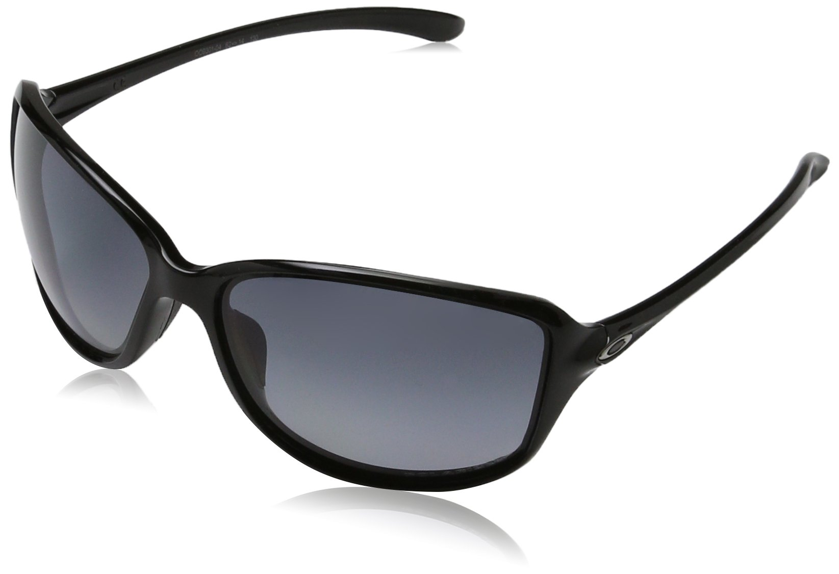 Oakley Women's OO9301 Cohort Rectangular Sunglasses, Polished Black/Grey Gradient Polarized, 62 mm