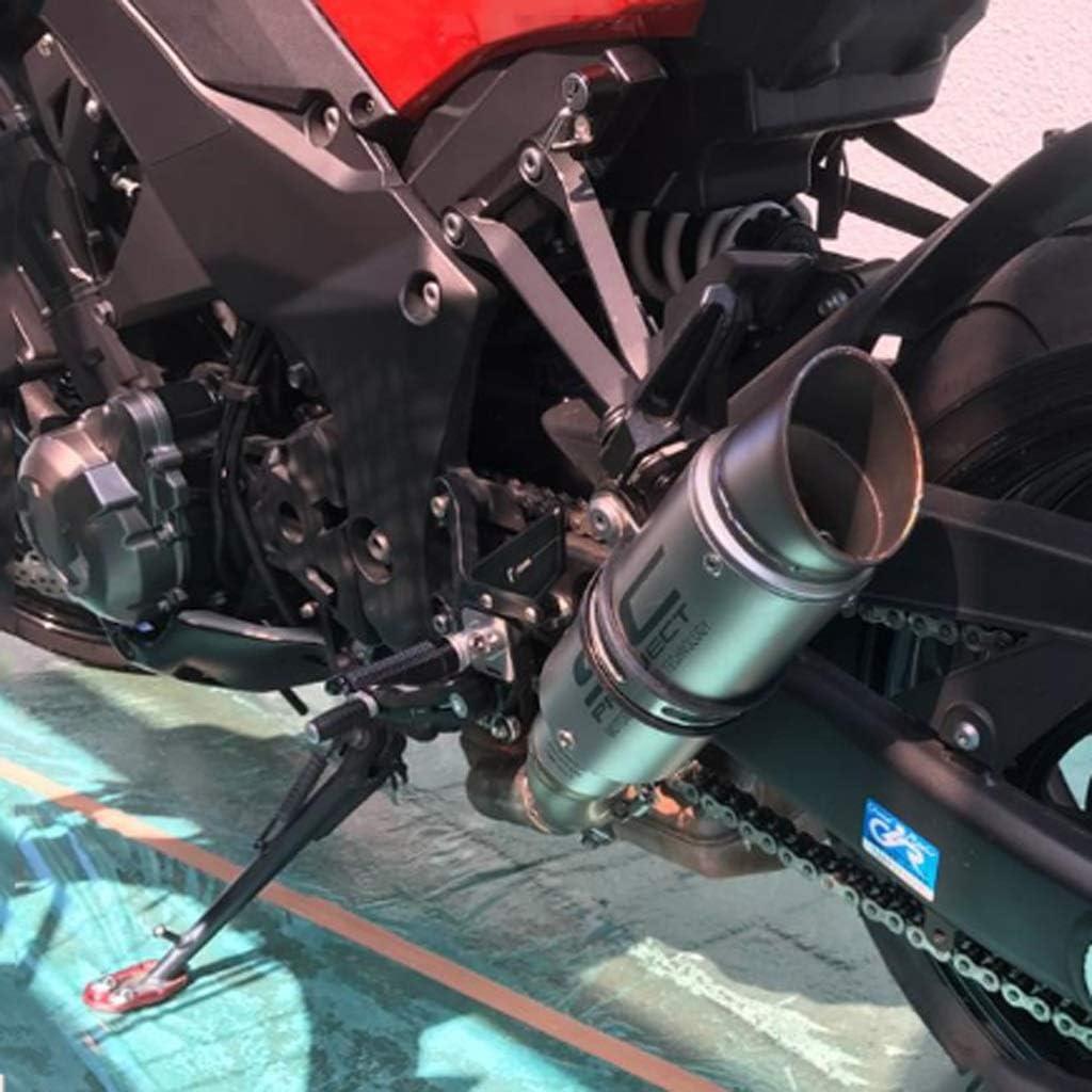 Acero SC silenciador Oblicua Inoxidable for la modificaci/ón de Escape Trasero Yamaha R25 R30 Z750 Z800 Motocicleta FXnn Tubo de Escape silenciador de Tubo de Escape Universal