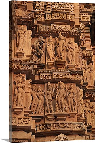 Canvas on Demand Premium Thick-Wrap Canvas Wall Art Print entitled Khajuraho, India 32''x48'' by Canvas on Demand (Image #5)