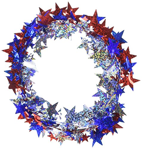 Fourth of July Party Prismatic Stars Wire Garland Decoration, 18 Feet (Party Prismatic Centerpiece)