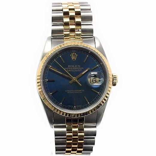 Rolex 16233 - Reloj automático para hombre, diseño de Datejust Swiss (certificado de autenticidad