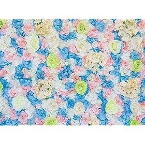 "48""X 96"" Artificial Silk Rose 3D Flower Wall Background Wedding Party Decor 97"